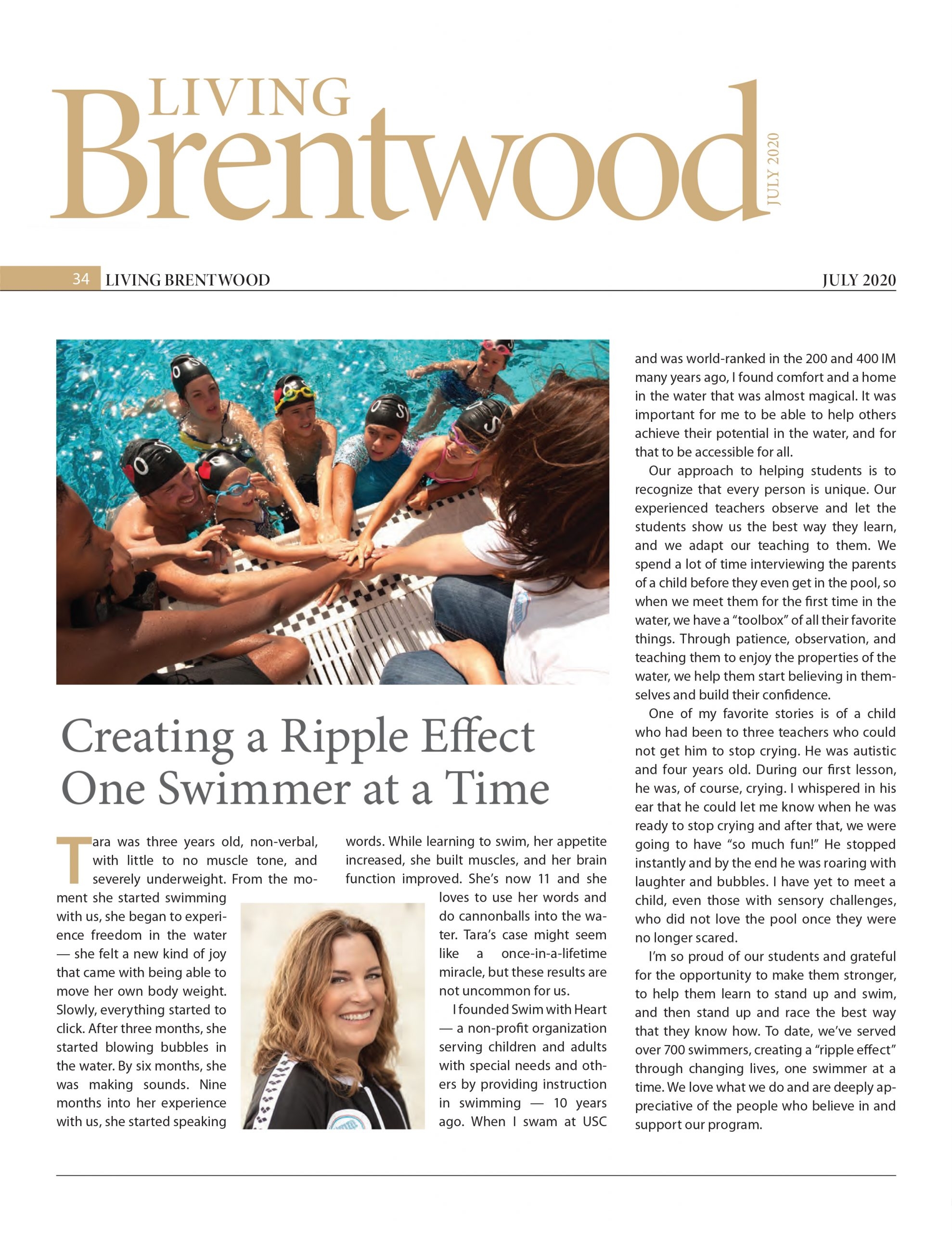 LivingBrentwood - Swim with Heart